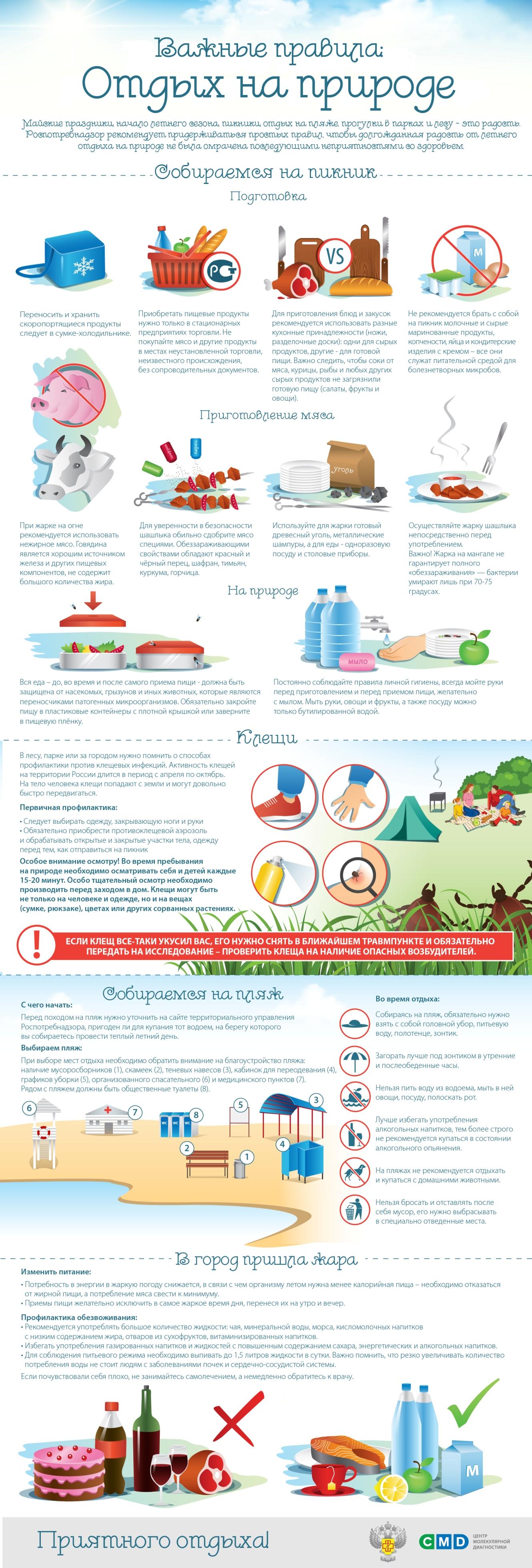 Памятка: как отдохнуть на природе и не навредить здоровью